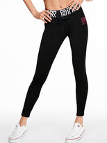 PINK Lace-Up Cotton Campus Legging