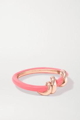 BEA BONGIASCA Baby Vine 9-karat Rose Gold And Enamel Ring - Pink