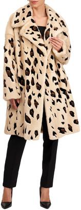 Oscar de la Renta Cheetah-Print Mink Fur Coat