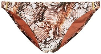 Melissa Odabash Exclusive to Mytheresa a Martinique snake-effect bikini bottoms