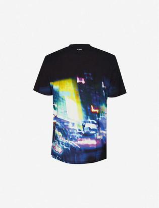 HUGO Urban-print cotton-jersey T-shirt