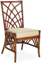 David Francis Furniture Cathedral Rattan Side Chair - Khaki