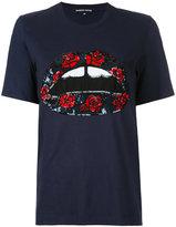 Markus Lupfer sequin lip rose patch T-shirt - women - Cotton - XS