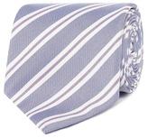 Jeff Banks Designer Blue Twin Striped Slim Silk Tie