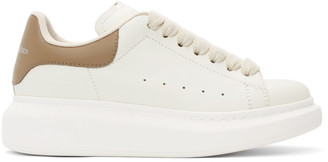 Alexander McQueen Off-White and Taupe Oversized Sneakers