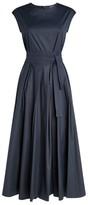 Max Mara Cotton Pleated Midi Dress