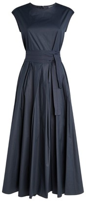 Max Mara Cotton Pleated Midi Dress