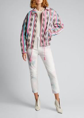 Etoile Isabel Marant Iaustey Printed Zip-Front Coat