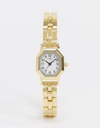 Limit octagonal bracelet watch in gold