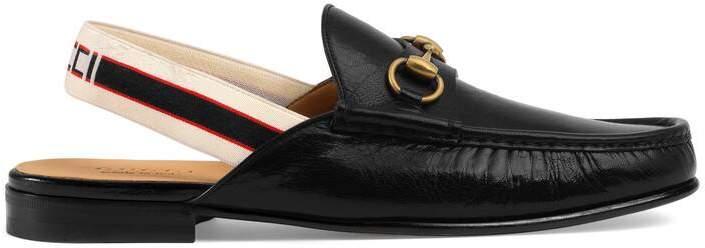 Gucci Horsebit stripe slingback slipper