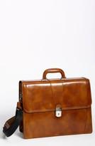 Bosca Double Gusset Briefcase - Brown