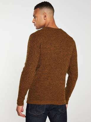 Selected Victor Crew Neck Jumper - Caramel
