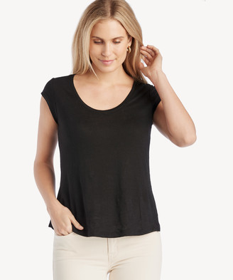 Sanctuary Women's Alma Scoop Tee In Color: Black Size XS From Sole Society