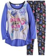 "Disney Disney's Descendants Girls 6-14 ""Chillin Like a Villain"" Tee & Bottoms Pajama Set"