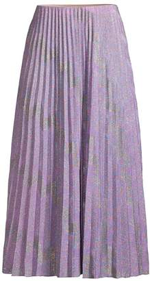 M Missoni Variegated Lurex Knit Pleated Midi Skirt