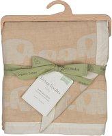 Living Textiles Organic Muslin Jacquard Blanket, Elephant