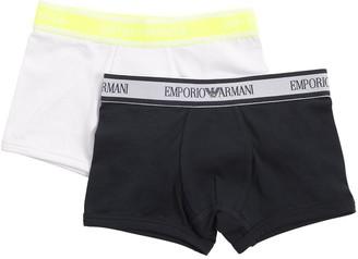 Emporio Armani Pack Of 2 Stretch Jersey Briefs