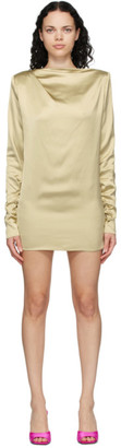 GAUGE81 SSENSE Exclusive Taupe Satin Pisa Mini Dress