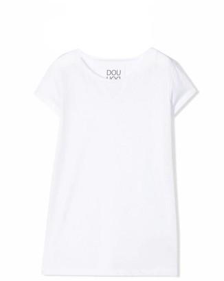 Douuod White Cotton T-shirt