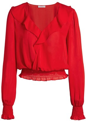 Parker Quincy Puff-Sleeve Blouse