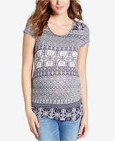 Jessica Simpson Maternity Crisscross-Back T-Shirt
