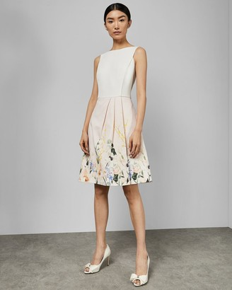 Ted Baker Elegant Full Skirt Dress