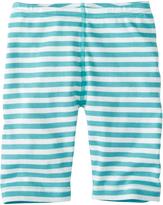 Hanna Andersson Poolside & White Stripey Bike Shorts
