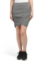 Drapy Ruched Wrap Skirt