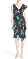 Diane von Furstenberg Women's Silk Side Ruffle Sheath Dress