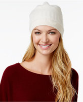 Charter Club Cashmere Ribbed Hat, Only at Macy's