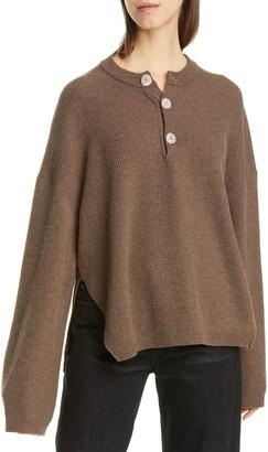 Nanushka Lione Merino Wool & Cashmere Blend Sweater