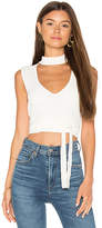 BCBGMAXAZRIA Mock Neck Tank in White. - size L (also in )