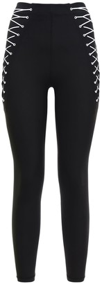 Adam Selman Sport Side Lace-up Leggings