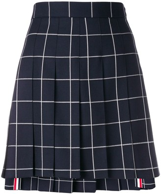 Thom Browne windowpane pleated mini skirt