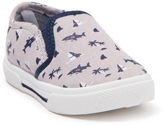 Carter's Damon Shark Print Slip-On Sneaker (Baby & Toddler)