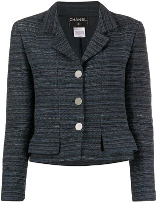 Chanel Pre Owned 1996 Cropped Tweed Jacket