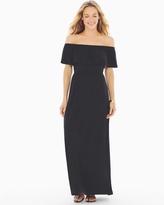 Soma Intimates Flounce Strapless Maxi Dress Black RG