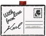 Karl Lagerfeld Postcard Perspex Minaudiere Clutch
