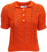 Courreges Cotton Knit Cardigan