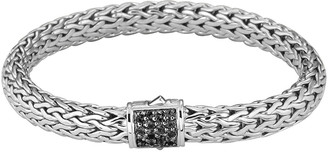 John Hardy Medium Chain Bracelet with Pave Clasp
