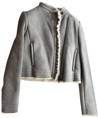 Miu Miu Blue Shearling Jacket for Women