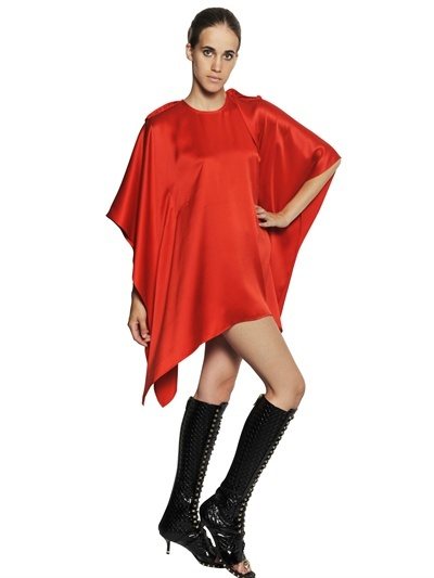 Givenchy Silk Satin Draped Dress