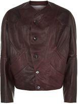 Vivienne Westwood Oversized Sleeve Leather Jacket