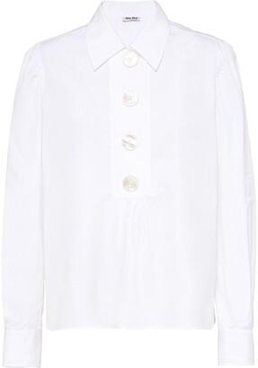 Miu Miu long-sleeved poplin shirt