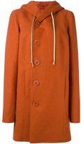 Rick Owens hooded coat - women - Silk/Cotton/Cupro - 42