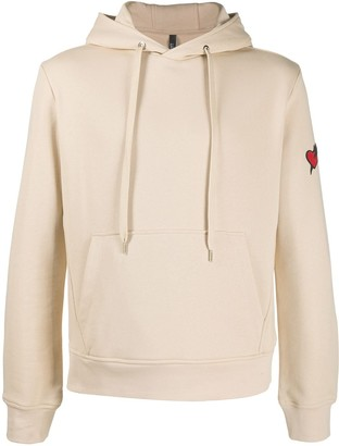 Neil Barrett Heart-Embroidered Hoodie