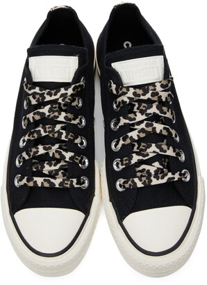 Converse Black Platform Chuck Taylor All Star Low Sneakers