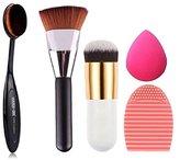 Makeup Brush,Vovotrade 5pcs Makeup Sponge Makeup Brush Cleaner Foundation Brush (A)