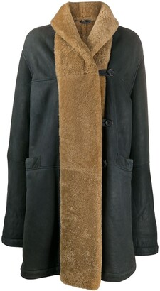 Romeo Gigli Pre-Owned 1990s Shearling-Trim Coat