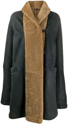 Romeo Gigli Pre Owned 1990s Shearling-Trim Coat